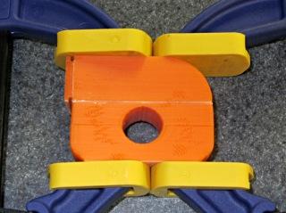 Superflash mount - glue clamping