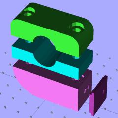 Superflash mount - solid model