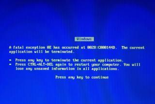 Windows 98 - BSOD
