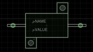 EAGLE 10 W Resistor package