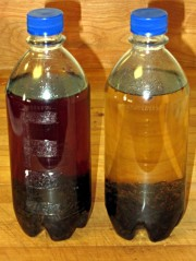 Vanilla extract - shaken and unshaken