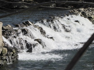 Red Oaks Mill dam - crumbled section