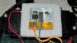 MOSFET thermal block