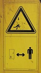 Komatsu warning placard 1