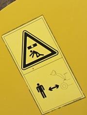Komatsu warning placard 2