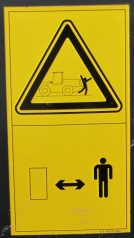 Komatsu warning placard 3