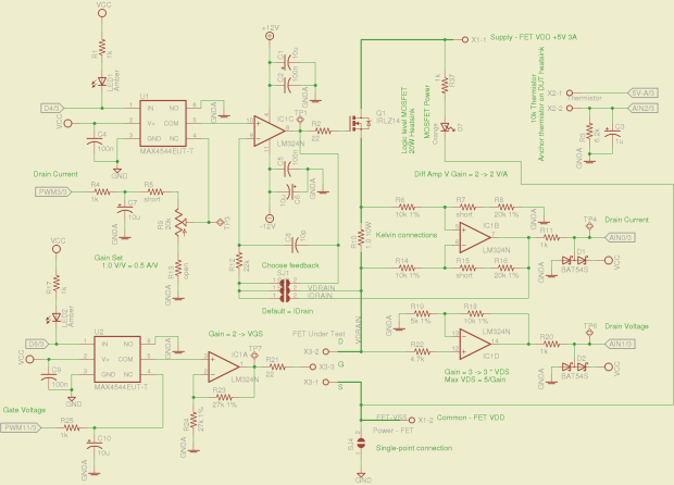 Schematic - MOSFET path