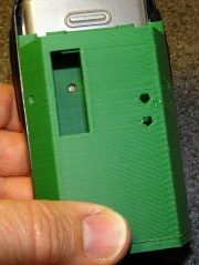 HT-GPS Case - Wouxun KG-UV3D rear view
