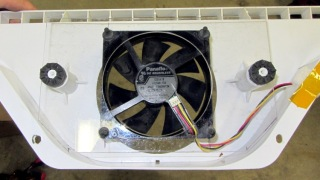 PC case fan in air flow director