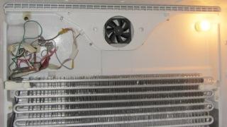 PC case fan installed in freezer
