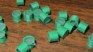 Silicone-filled pin caps