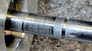 Freezer motor - scored shaft detail