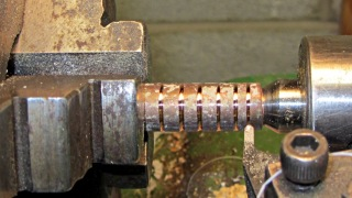 Grooving copper tubing