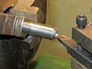 Frostproof faucet - lathe-turned burnishing rod