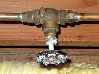 Corroded gate valve
