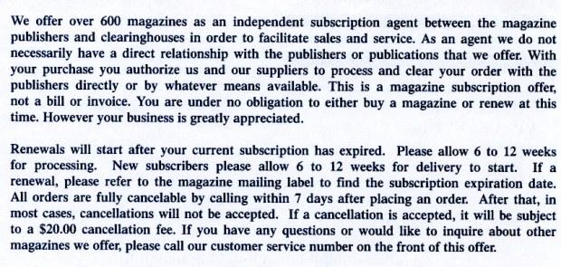 Subscription Billing Service - back