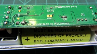 Sonicare PCB solder points