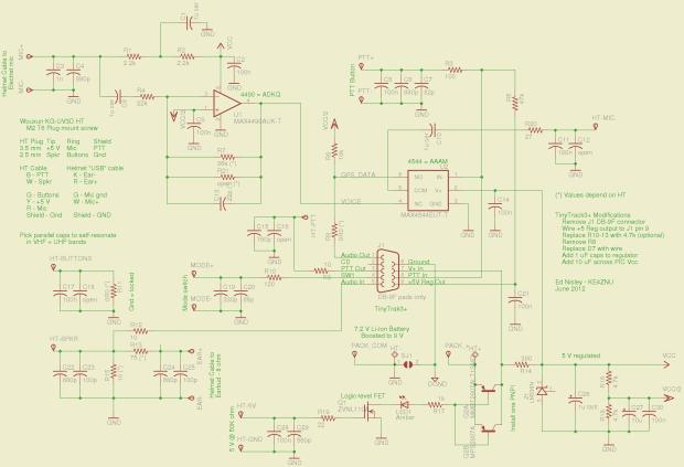 Wouxun KG-UV3D GPS+Voice Schematic