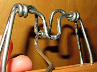 Trouser hanger - abraded steel