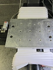 Sherline tooling plate with setscrews
