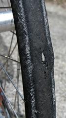 Front tire aneurysm