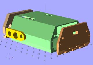 Solid Model - Oblique Exploded Base