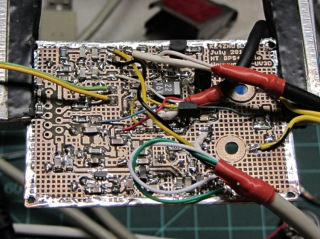 HT-GPS PCB - cabled in place