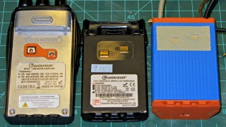 Wouxun KG-UV3D - battery contact locations - GPS case