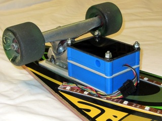 Longboard RGB LED Electronics - left front view