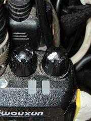 Wouxun KG-UV3D - garish knob marking
