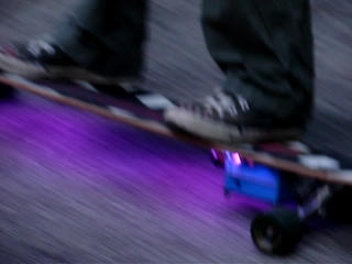 Longboard In Action