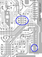 DEH2850MP PCB Radio Jumpers