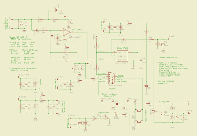 Schematic - Wouxun HT GPS+Voice Interface - August 2012