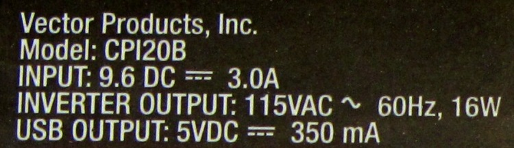 Pocket Power - label specs