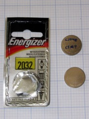 DOA Energizer CR2032 cell