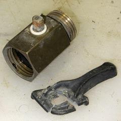 Ball valve with broken handle