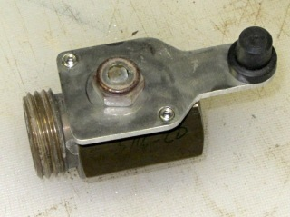 Ball valve handle - top view