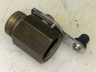 Ball valve handle - bottom view