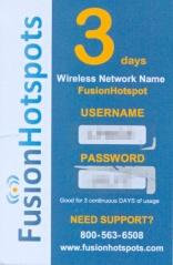 Fusion Hotspot Scrach-off Card