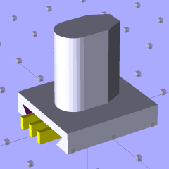 Refrigerator Bracket Pin - solid model
