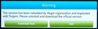 Kindle Fire - File Expert Trojan warning - detail
