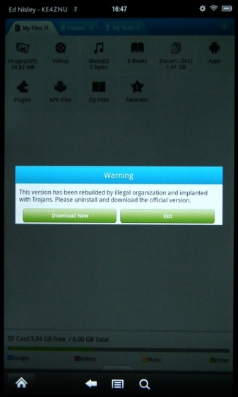 Kindle Fire - File Expert Trojan warning