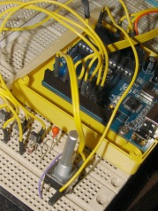 Quadrature Knob and Switch - breadboard