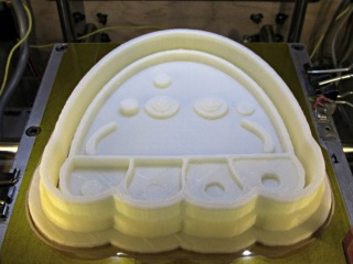 Jellyfish Cookie Cutter - on build platform
