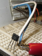 AH49E Hall effect sensor - breadboard
