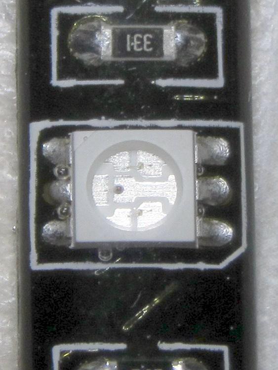 Waterproof RGB LED Strip - LED detail