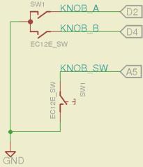 Quadrature Knob with Push Switch