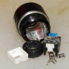 LED Flashlight switch - guts