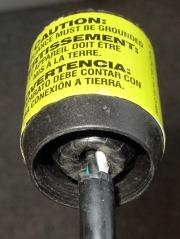 AC Line Cord Plug - clamp fingers