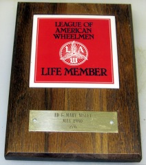 League of American Wheelmen plaque